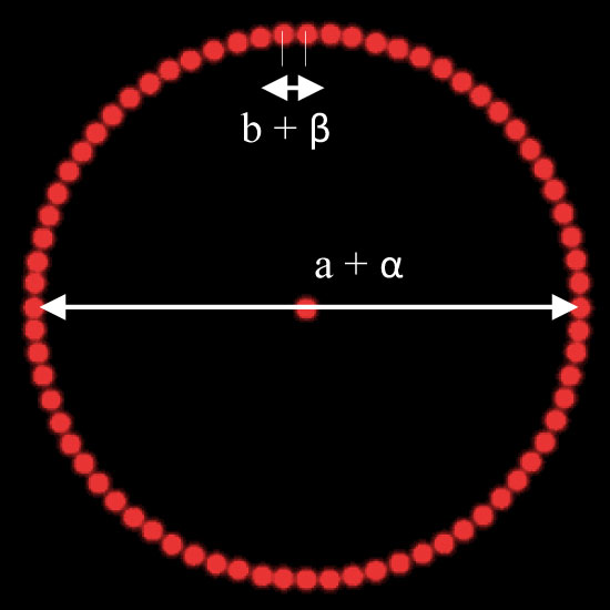 DOE-DE-R221: DOE 1:72 DOT Circle - PMMA - 8x1mm 25°
