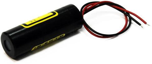 CB650-0.4-3(16x45): Kreuz Lasermodul, rot, 90°, 650nm, 0.4mW, 3V DC, 16x45mm, Klasse 1