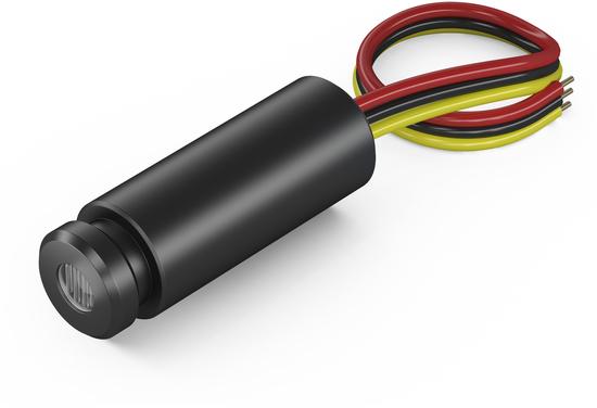 MDD635-1-5(12.7x34): modulated Dot lasermodule, isoliert, red, 635nm, 1mW, 5V DC, 12,7x34mm, class 2