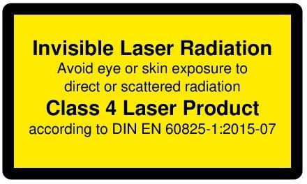 DH808-1200-5(45x100): focusable Dot lasermodule, infrared, 808nm, 1200mW, 5V DC, 45x100mm, class 4